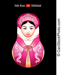 Matryoshka vietnam girl - Matryoshkas of the World:...