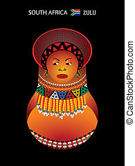 Matryoshka zulu girl - Matryoshkas of the World: zulu girl...