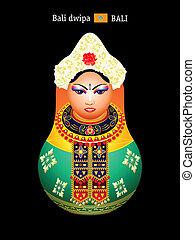Matryoshka balinese girl - Matryoshkas of the World:...