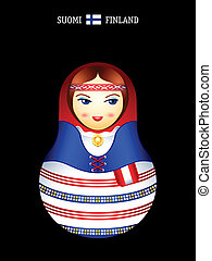 Matryoshka finnish girl - Matryoshkas of the World: finnish...