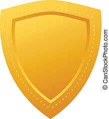 Golden shield - Blank golden shield