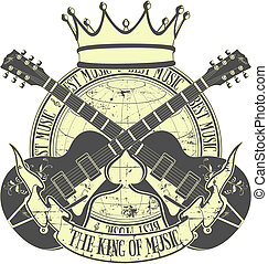 The king of music - The vector image of king of music