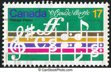 note - CANADA - CIRCA 1980: stamp printed by Canada, shows...