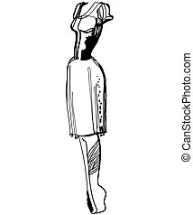 sketch fashion style dresses