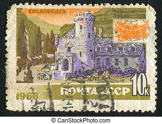 architecture - RUSSIA - CIRCA 1966: stamp printed by Russia,...