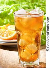ice tea - glass of ice tea