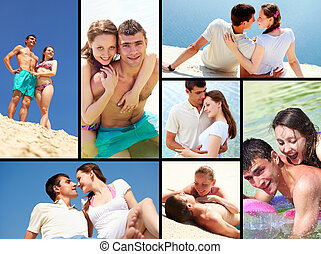 Romantic collage - Collage made of images with young couple