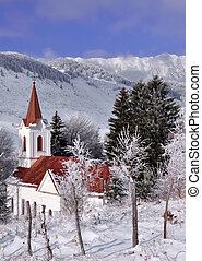Local church from Sirnea village near Piatra Craiului...