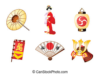Japan symbols - Japanese traditional culture symbols...