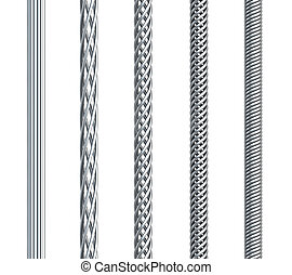 set of seamless steel cable