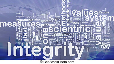 Integrity background concept - Background concept wordcloud...