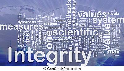 integridad, Plano de fondo, concepto