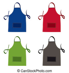 Apron collection - Cooks apron collection in bright colours...