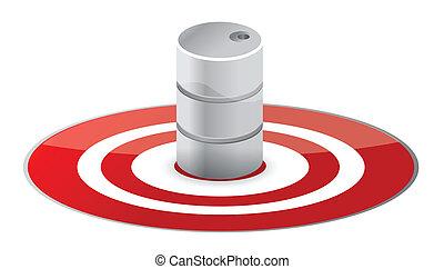 Oil concept illustration design