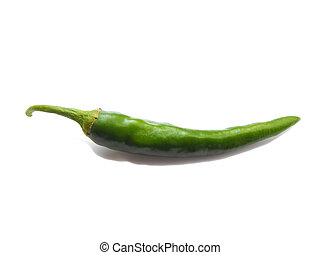 Green Chilli Pepper - Green chilli pepper isolated on white