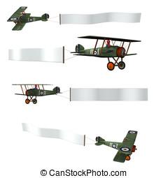 Vintage Biplane Clip art - Vintage double wing biplane...