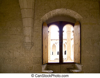 Arch in Majorca Bellver Castle at Palma de Mallorca - Arch...