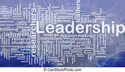 Leadership background concept - Background concept wordcloud...