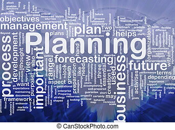 Planning background concept - Background concept wordcloud...