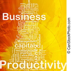 Business productivity background concept - Background...