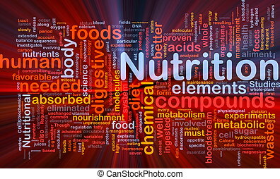 Nutrition health background concept glowing - Background...