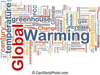 Global warming background concept