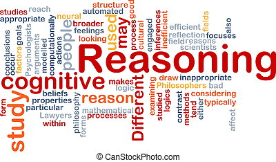 Cognitive reasoning background concept