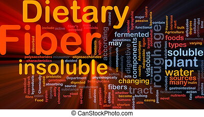 Dietary fiber background concept glowing