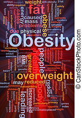 Obesity fat background concept glowing