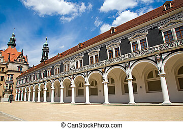 The Stallhof in Dresden, Germany - The Stallhof in Dresden,...