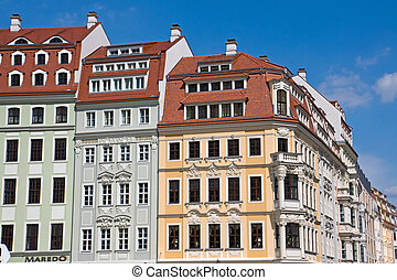 Beautiful old houses in Dresden