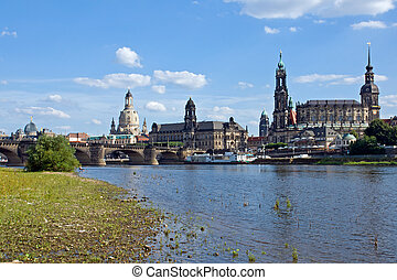 Dresden from the shore of the Elbe