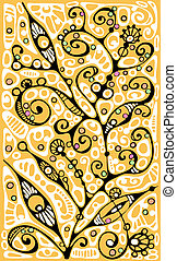 Graphic plants stylization - Ornamental plants and natures...