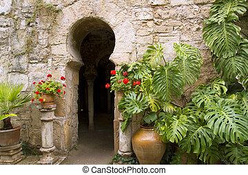 Arab baths in Majorca old city of Barrio Calatrava Los...