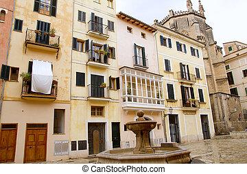 praça, placa, sant, Jeroni, Majorca, Palma, Mallorca