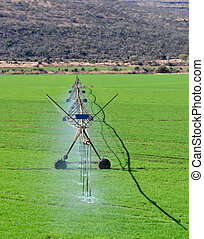 Agriculture water spray - Water spray construction on a...
