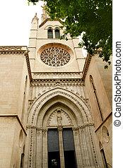 church of Santa Eulalia Majorca in Palma de Mallorca...