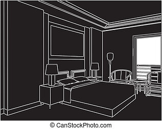 Modern Bedroom Vector
