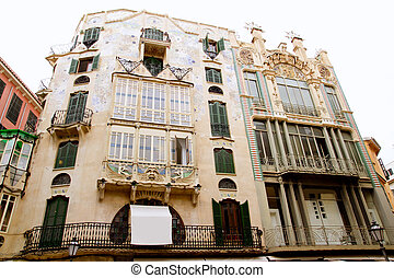 Majorca Placa Plaza Marques de Palmer modernist building can...