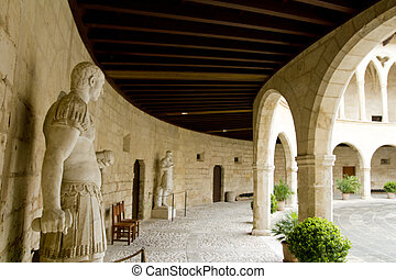 Castle Castillo de Bellver in Majorca at Palma de Mallorca -...