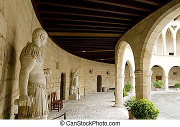 Castle Castillo de Bellver in Majorca at Palma de Mallorca -...