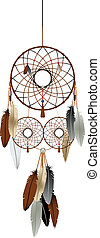 The dream catcher - A native american indian dream catcher...