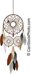 The dream catcher - A native american indian dream catcher...