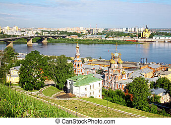 Scenic view of summer Nizhny Novgorod, Russia