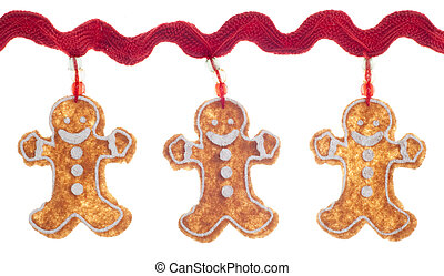 Gingerbread Man Holiday Background