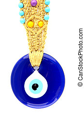 Turkish amulet evil eye on white background