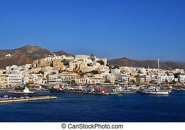 Port on the island of Naxos