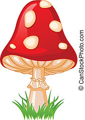 Mushroom amanita - Illustration of Mushroom amanita in a...
