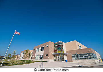 New School Building - A newly constructed suburban...