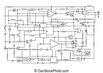 electronic project - schematic diagram - project of...